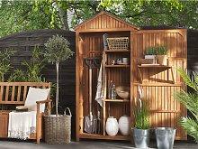 Beliani Acacia Wood Garden Storage Cabinet SAVOCA