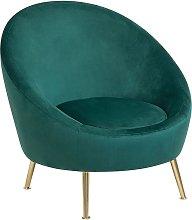 Beliani - Accent Tub Chair Emerald Green Glam