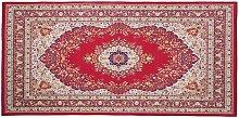 Beliani - Area Rug Red Modern Oriental Pattern