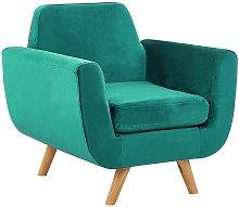 Beliani - Armchair Green Retro Velvet Upholstery