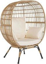 Beliani - Boho Basket Chair Rattan Sitting