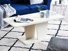 Beliani Coffee Table High Gloss White and Beige