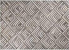 Beliani - Cowhide Leather Area Rug Beige Patchwork