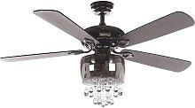 Beliani - Crystal Ceiling Fan with Light Glass
