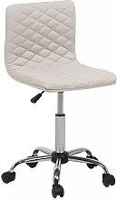 Beliani - Fabric Armless Desk Chair Beige ORLANDO