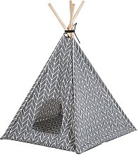 Beliani - Fabric Pet Teepee Tent Cat Dog Bed with