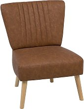 Beliani - Faux Leather Armchair Golden Brown VAASA