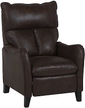 Beliani - Faux Leather Recliner Chair Brown ROYSTON