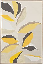 Beliani - Framed Wall Art 63 x 93 cm Leaf Pattern