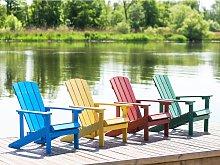 Beliani Garden Chair Yellow ADIRONDACK