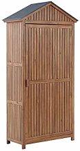 Beliani Garden Storage Cabinet Outdoor Tool Shed