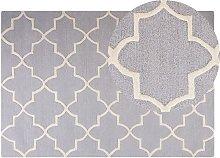 Beliani - Geometric Trellis Pattern Area Rug Wool