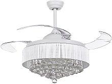 Beliani - Glam Ceiling Fan with Light Speed
