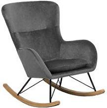Beliani - Glam Traditional Rocking Chair Velvet