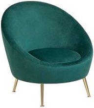Beliani - Glam Velvet Fabric Accent Tub Chair