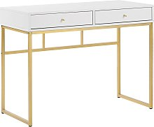 Beliani - Glamour 2 Drawer Console Table Desk Gold