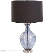 Beliani - Glass Bedside Table Lamp 70 cm Classic