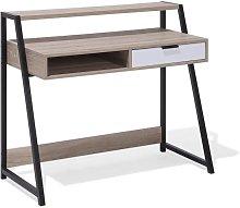 Beliani Home Desk 100 x 50 cm Light Wood CALVIN