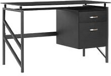 Beliani - Home Desk 117 x 57 cm Black MORITON