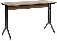 Beliani - Home Desk 120 x 48 cm Dark Wood with