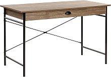 Beliani - Home Desk 120 x 60 cm Dark Wood with