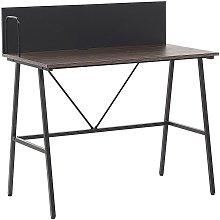 Beliani - Home Office Desk 100 x 50 cm Dark Wood