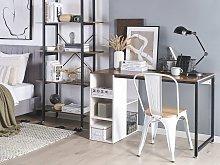 Beliani Home Office Desk 120 x 60 cm Dark Wood and