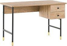 Beliani - Home Office Desk 120 x 60 cm Light Wood