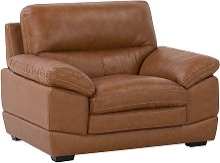 Beliani - Leather Armchair Golden Brown HORTEN