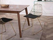 Beliani Metal Accent Chair Gold HARLAN