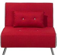 Beliani - Modern 1 Seater Fabric Sofa Bed Single