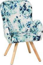 Beliani - Modern Accent Chair Wooden Legs