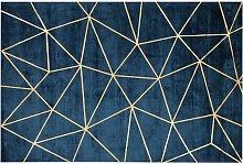 Beliani - Modern Area Rug Viscose Gold Geometric