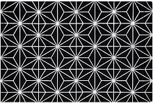 Beliani - Modern Area Rug Viscose Silver Geometric