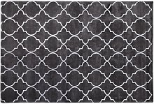 Beliani - Modern Area Rug Viscose Silver