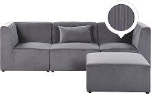 Beliani - Modern Corduroy 3 Seater Modular Sofa