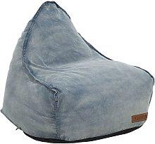 Beliani - Modern Denim Bean Bag Chair Pouf Lounger