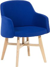 Beliani - Modern Fabric Armchair Dark Blue