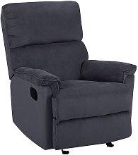 Beliani - Modern Fabric Armchair Dark Grey