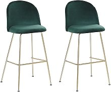 Beliani - Modern Glam Bar Dining Chairs Set