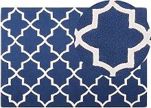 Beliani - Modern Hand Tufted Area Rug Blue Wool