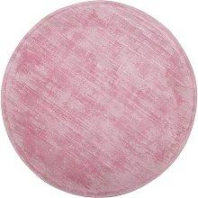 Beliani - Modern Handmade Round Pink Living Room