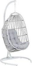 Beliani - Modern Hanging Chair PE Rattan LightGrey