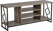 Beliani - Modern Industrial TV Stand Open Shelves