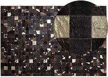 Beliani - Modern Leather Patchwork Area Rug