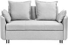 Beliani - Modern Light Grey 2 Seater Sofa Bed