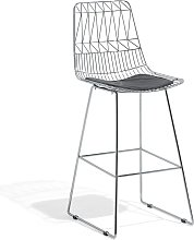 Beliani - Modern Metal Bar Chair Counter Height