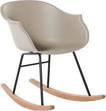 Beliani - Modern Scandinavian Rocking Chair Wood