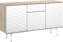 Beliani - Modern Sideboard 2 Door Cabinet 1 Drawer