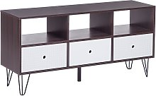 Beliani - Modern TV Stand Media Unit 3 Drawers